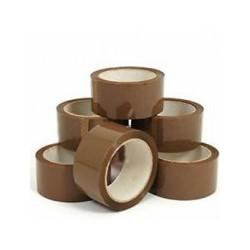 Lepící páska za nízkou cenu 48mm 66m hnědá levná