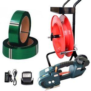 Aku páskovačka TES set PET páska + odvíječ + baterie + nabíječka