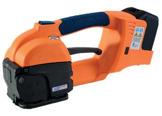 GT ONE 10-16mm (3/8″ to 5/8″) akumulátorový páskovač pro PET a PP pásky s baterií & nabíječkou 2