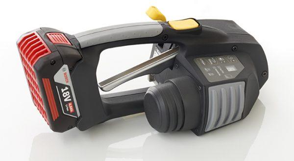 Messersi MB620 mechanický aku páskovač 12-16mm (1/2″ to 5/8″) páskovač pro PET a PP pásky s baterií & nabíječkou 2