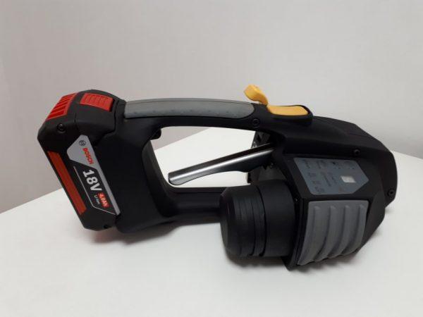 Messersi MB620 mechanický aku páskovač 12-16mm (1/2″ to 5/8″) páskovač pro PET a PP pásky s baterií & nabíječkou 3